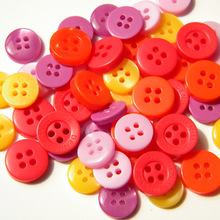 100pcs polyester mixed branded MOP button Craft Sewing Accessories resin button for DIY clothes accessories shirt Scrapbooking(China)