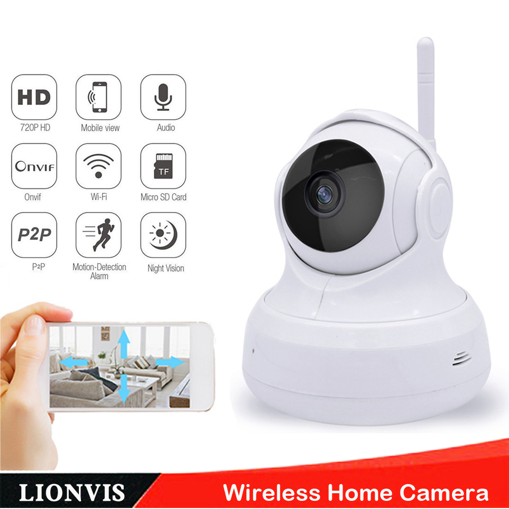 720P Wireless IP Camera Network P2P Plug&amp;Play H.264 Supprt TF Card Storage Home Security Baby Monitor Wifi Dome Camera<br><br>Aliexpress