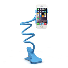Universal Long Arm Gooseneck Holder Bed Desk Table Clip Bracket For Cell Phone Stand 360 Rotating Flexible Phone Holder