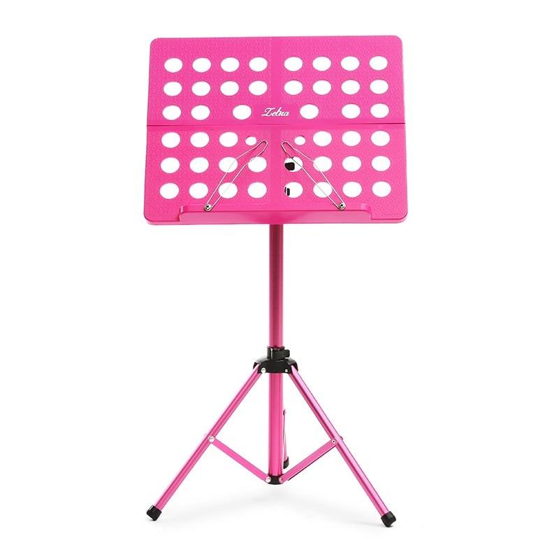 Zebra Portable Sheet Music Stand Folding Musical Desk Holder Adjustable Paper Rack with Carrying Case For Musical Instruments<br>