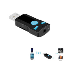 USB Bluetooth Handsfree Phone Transmitter Music Audio Stereo Adapter Receiver Car Aux in Home Speaker Support SD Card  D