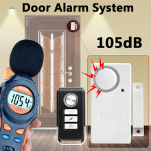 105 DB Door Window Entry Security ABS Wireless Remote Control Door Sensor Alarm Host Alarm system Home Protection Kit