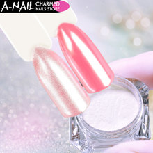 A-nail 2g/Box Nail Pearl powder Diamond Mermaid Powder Shining dust for UV Gel Nail polish Nail art Decoration Glitter(China)