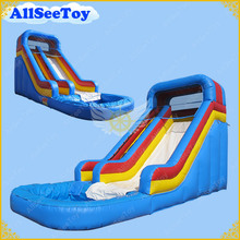 Blue and Yellow Inflatable Water Slide with Pool,PVC Tarpaulin Material Bouncer