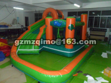 Home Used Inflatable Bouncer Inflatable Bounce House Bouncy Castle with Double Slides for Children Outdoor and Indoor Games(China)