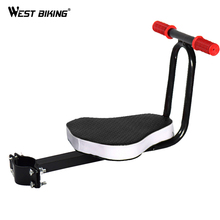 WEST BIKING Portable Bike Child Seat Bicycle Saddle Kids Carrier Electric Scooter Safety Front Bike Children's Saddle Chair Seat
