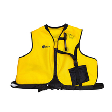 QIAN SAFETY Manual Inflatable Accessorial Life Vest Safe Professional Zipper Style Water Sport Snorkeling Accessorial Lifejacket(China)