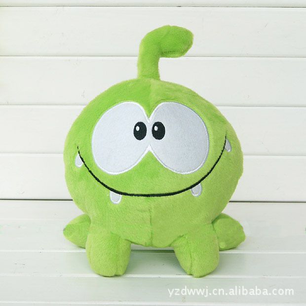 30cm Om Nom Frog Plush Cut The Rope Soft Rubber Cut The Rope Figure Classic Toys Game<br><br>Aliexpress