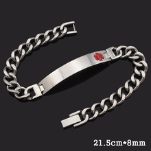 Dolaime Stainless steel men and women fashion ring buckle Medical Alert Serpentine ID Jewelry wrist exquisite gifts  GB1425