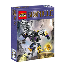 1 Box 108pcs BIONICLE series 708-1 Onur Master of Earth action figure Building Block brick toys Compatible With Legoed LR-617(China)
