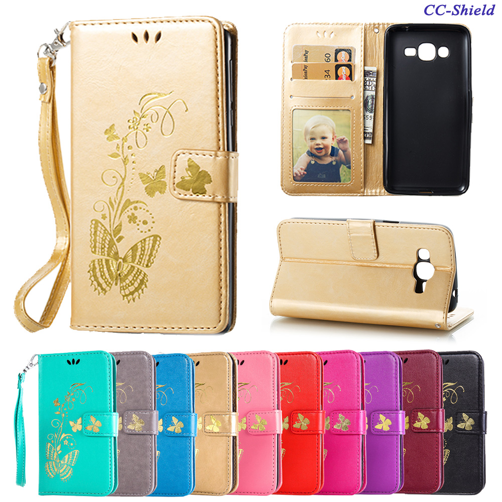 Flip Case Samsung Galaxy J2 J 2 Prime Duos G532 G532F G532F/DS SM-G532 SM-G532F SM-G532F/DS Butterfly Phone Leather Cover