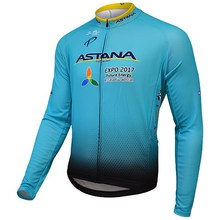 WINTER FLEECE THERMAL 2017 ASTANA PRO TEAM BLUE ONLY LONG SLEEVE ROPA CICLISMO CYCLING JERSEY CYCLING WEAR SIZE XS-4XL