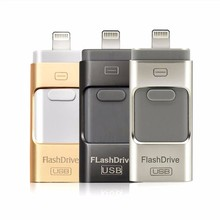 mobile USB Flash Drive For iPhone 6 6s Plus 5 5S ipad Pen drive memory stick OTG Micro 8GB 16GB 32GB 64GB PENDRIVE(China)