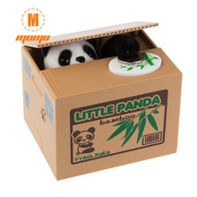 Panda Thief Money boxes toy piggy banks gift kids money boxes Automatic Stole Coin Piggy Bank Money Saving Box Party Favors(China)