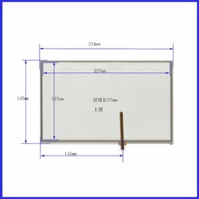 AT 462 A1 10.4  inch Touch Screen Glass 235mm*145mm 4 wire resistive Touch Panel    FOR  TABLE for laptop 235*145
