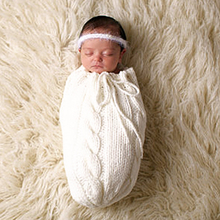 Newborn Photography Props Infant Fotografia Sleeping Bag Baby Crochet Knit Costume Photography Accessories Baby Photo Props