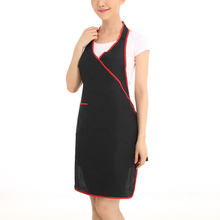 Kitchen Cooking Apron Men Women Long Chef Apron Household Restaurant Hotel Uniform Workwear Apron Black
