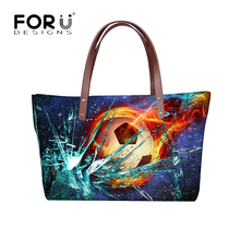 FORUDESIGNS 2017 Luxury Handbags Women Bags Designer Cool 3D Ball Pattern Female Large Messenger Bags Bolsa Feminina Tote Bags(China)