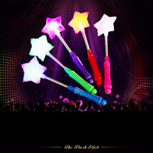 2017 Sale Led Dance Light Up Granule Sticks Led Wands Rally Rave Rose Star Love Shape Dj Glow Stick 3 Flash Models Party Supply(China)