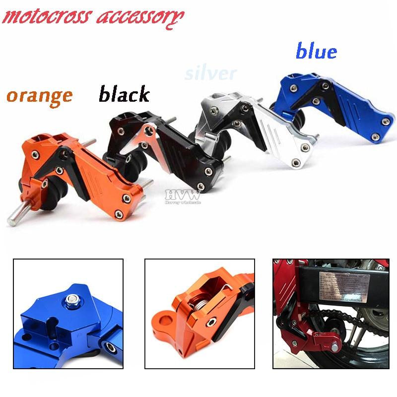 Universal CNC aluminum Adjustable Conversion Motorcycle Chain Tensioner  For  Kawasaki  Yamaha R6<br>