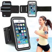 Waterproof Running Arm Band Leather Case For iphone 6 Plus 6S Plus 5.5 Mobile Phone Holder Pouch Belt GYM Cover For iPhone(China)