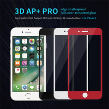 For iPhone 7 Protective film NILLKIN 3D AP+ Pro Edge Shatterproof Full Tempered Glass Screen Protector For iphone 7 plus