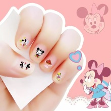 2017 New arrive korea Waterproof Nails Sticker Micky and Minnie 5 Designs Nails Foil Sticker Decor Decals make up for children