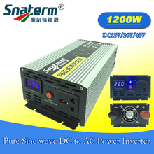 1200 watts /1.2KW Solar PV pure sine wave Power Inverter DC12V/24V/48V to AC220V/230V/240V,50HZ 60HZ for solar off grid system
