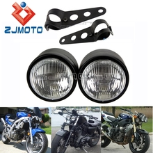 Bobber 250 Flyrite Choppers Custom Streetfighter Twin Headlight Motorcycle Billet Head Lamp For Dyna Cafe Racer Cruiser