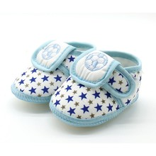 Soft Sole Baby Shoes Newborn Girls Boys Cute Star Soccer Pattern Cotton First Walkers Toddler Moccasins Black Red Blue