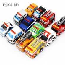 12Pcs/Set Car-Styling Mini Boy Aerial Cars juguetes Pull Back Car Toy Model Cars Multi Color Kids Toys For Children Dinky Toys(China)