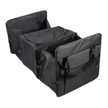 Black Oxford Cloth Car Trunk Storage Box Car Organize Backseat Storage for Car Truck or SUV, Perfect Car Organizer for all Cargo(China)
