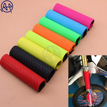 New Front Fork Protector Shock Absorber Guard Wrap Cover Skin For Motorcycle Motocross Pit Dirt Bike KTM YZF250 CRF250 CRF450(China)
