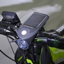 Waterproof Solar Bike Lights LED Bicycle Front Head Light USB 2.0 Rechargeable Headlight Portable Outdoor Night Cycling Lights
