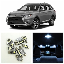 11pcs Xenon White LED Light Car Bulbs Interior Package Kit For 2013-2017 Mitsubishi Outlander Map Dome Trunk Glove Box Lamp(China)