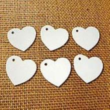 100pcs Heart Shaped Paper Card Valentines / Wedding/ Wish Tree Tags (White)