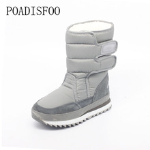 2017 Christmas Gifts Winter Women Boots woman Snow Boots Shoes For  Santa Claus White Snow Color Plus Size USA Hot .ZYMY-xz-29