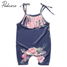 PUDCOCO Brand Silk One Piece Floral Toddler Infant Baby Girls Romper Body Suit Jumpsuit Outfits Set