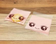 100pcs/lot,plastic bags, 3colors Big eyed doll cookie packaging bags 10x10cm cupcake wrapper