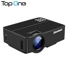 Excelvan E08 Mini LCD Projector Home Cinema 800X480P HDMI SD USB VGA Interface Multi-screen Interaction for iPhone Data Cable