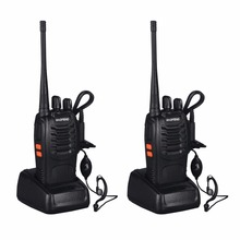 2 pcs Baofeng BF-888S VHF/UHF FM Transceiver 400-470MHz Rechargeable Walkie-talkie Flashlight 5W 16Ch With Headset 2-way Radio