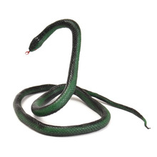 New Design Funny Rubber Simulation Animal Dark Green Snake Toys Gags & Practical Jokes Toys For Children Gift(China)