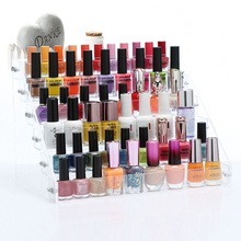 New Plastic Nail Polish Fashion  2/3/4/5/6 Tier Organizer Lipstick Display Stand Holder Nail Polish Rack Makeup Cosmetic