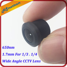 New 1.7mm cctv car lens 650nm IR Board Lense For 1/3 1/4 HD CCTV AHD TVI IP Camera M12 Mount 2.0Megapixel Wide Angle CCTV Lens