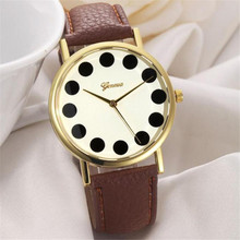 Women Girl hot sale luxury fashion leather Band simulated quartz watch Brand factory prices For Reloj Relogio