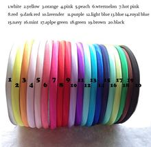 20Colors 10mm Satin Headband DIY Headband Flower headbands for girls hair accessories 60pcs/lot
