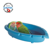 CAITEC Bird Toys Parrot Bathtub with Mirror Best for Small Bird and Small Parrot Bath Cleaning Supplies(China)
