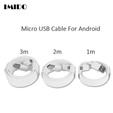 Micro USB Cable 1m/2m/3m Long USB Charger Cable Data Line Charging Cord for Android Mobile Phone samsung galaxy Xiaomi Huawei