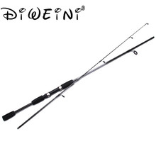 Portable 1.8 M 2 Section Carbon Lure Spinning Fishing Rod