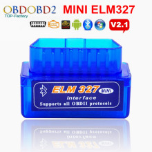 Top Selling Mini ELM327 OBD2 OBDII ELM 327 Bluetooth V2.1 Diagnostic Scanner Tool For Multi Brand Cars Android Symbian Windows